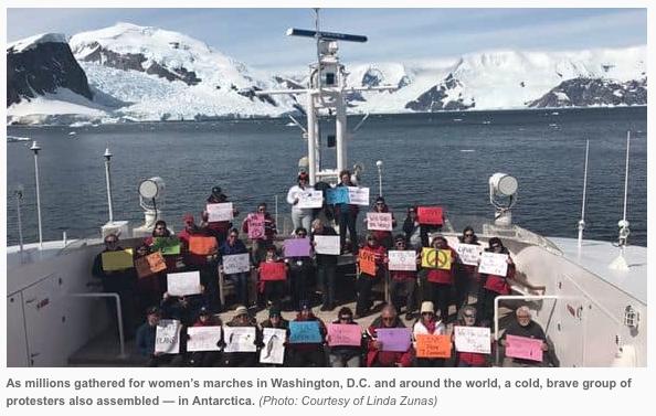 Women's March in Antarctica Jan. 21st, 2017