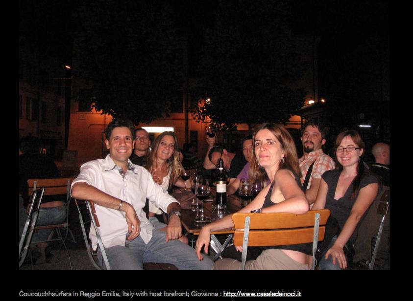 Carol the blogger, Italians, Reggio Emilia, Italian Hitchabout