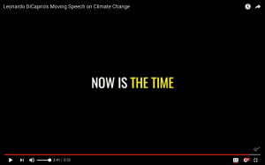 Now Is The Time, Leonardo DiCaprio, Speech on Climate Change