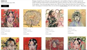 Hung Liu, artist, Carroll gallery on, Canyon Rd., Santa Fe, NM