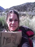 Carol Keiter the blogger on return hitch from Taos to Santa Fe, New Mexico