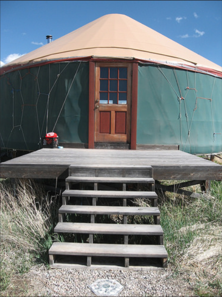 yurt, residence, Taos, New Mexico