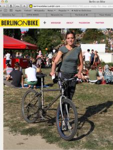 Carol Keiter Berlin on Bike - writer, blogger, musician, composer