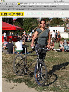 Carol Keiter Berlin on Bike - writer, blogger, musician, composer