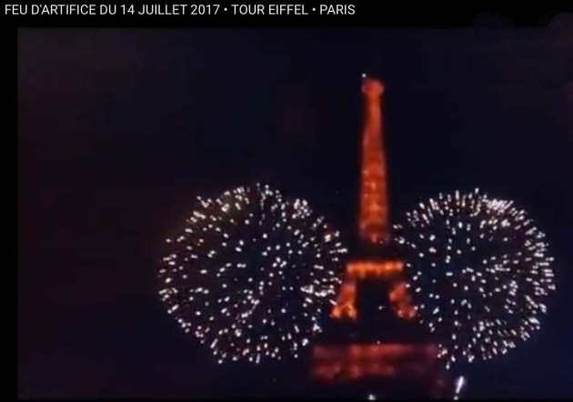 Feu dArtifice le 14 Juillet Tour Eiffel 2017