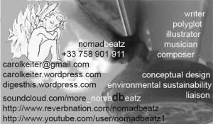 Carol Keiter, nomadbeatz, donations, writing, photography, illustrations, eBook, music composition