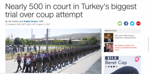 500 in court, Turkey Coup Attempt 2016, CNN