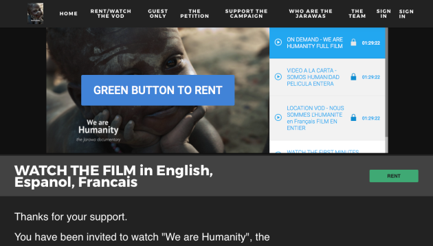 We Are Humanity Film, Jarawa documentary