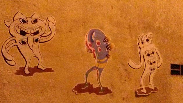 paper cut out graffiti