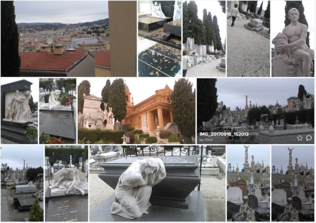 historical Nice, France and cemetary