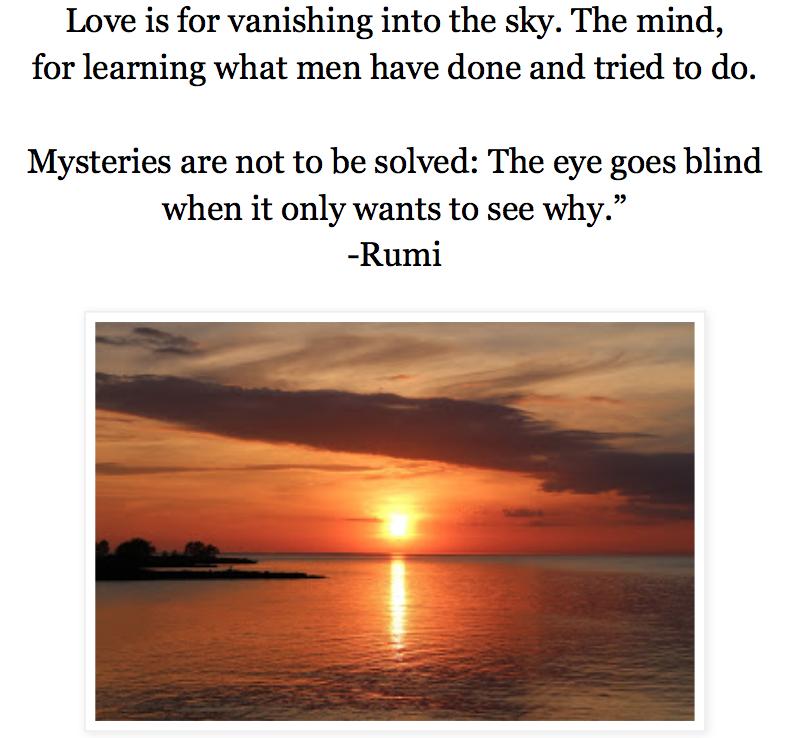 Rumi quote Spirit Mind