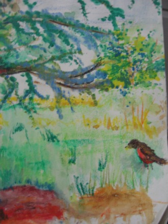 Elegant Tree and Robin close