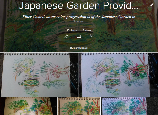 Japanese Garden, Faber Castell, Watercolor Pencil, Progression