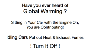 idling cars contribute to global warming