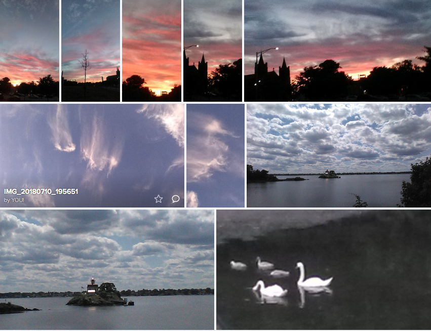 Sunsets Swans & Clouds Providence Rhode Island July 2018