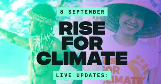 Rise for Climate, global action, September 8th, 2019