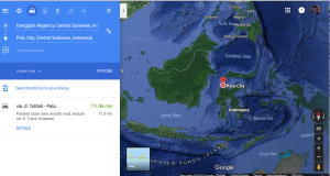 Donggala epicenter of the quake, Palu, Central Sulawesi, Indonesia