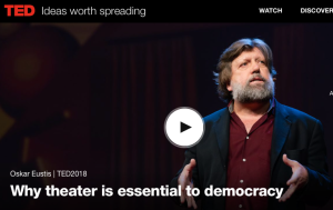 Oskar Eustis, Why theater is essential to democracy, TED Talk