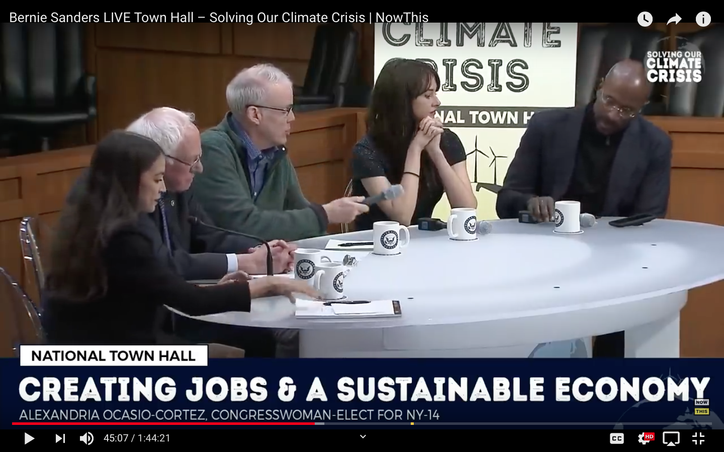 Town Hall Discussion on Climate Change