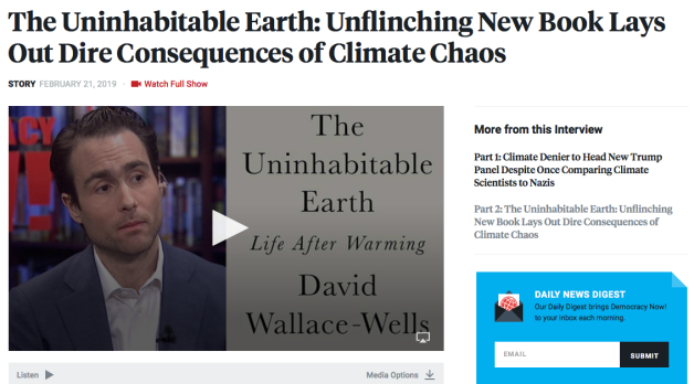 The Uninhabitable Earth, book, David Wallace-Wells