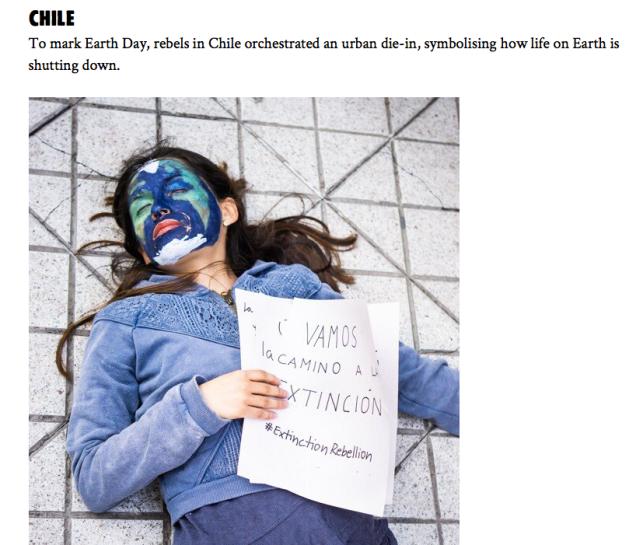 Extinction Rebellion, Die-In Chili,  Photo by Belen Morales Ferrer
