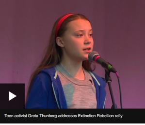 Greta Thunberg, Swedish teen, School Boycott for climate change, Climate Actiont, Extinction Rebellion rally