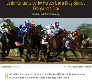 Lasix, Kentucky Derby , inverse