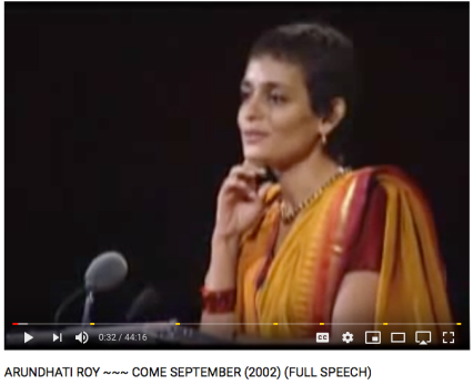 Arundhati Roy, full speech 2002, Come September