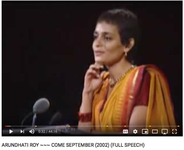 Arundhati Roy, full speech 2002, Come September