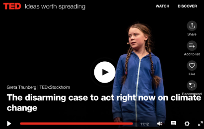 Greta Thunberg TED talk on climate change
