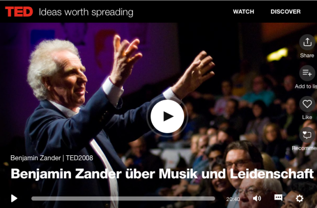 Benjamin Zander, music, passion, Quiet Performance and Deafening Messages, TED talk