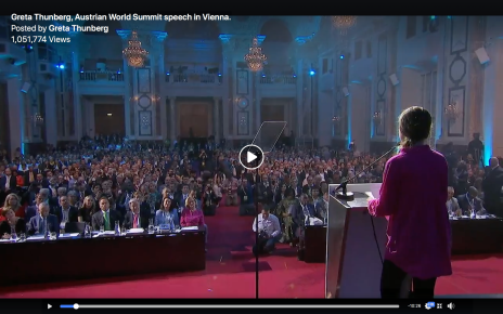climate change, global warming, extinction, Greta Thunberg, Austrian World Summit, Vienna