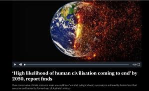Australian Military Report High Liklihood human Civilization Ending 2050 Independent