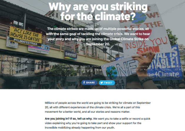Global Climate Strike September 20, 2019