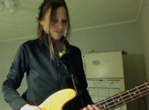 carol Keiter, bass guitar