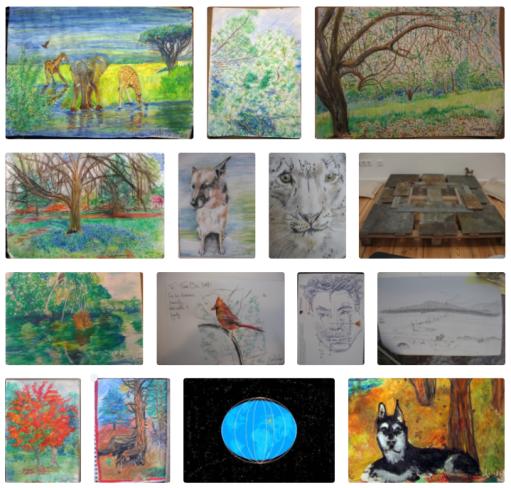 art, creativity, Carol Keiter, portraits, drawings, paintings, sketches, pastels