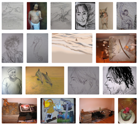 art, creativity, Carol Keiter, portraits, drawings, paintings, sketches, pastels