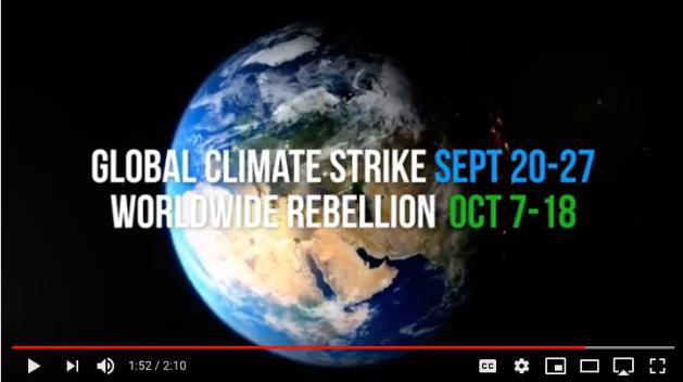 global climate strike sept 20-27 worldwide rebellion oct 7-18
