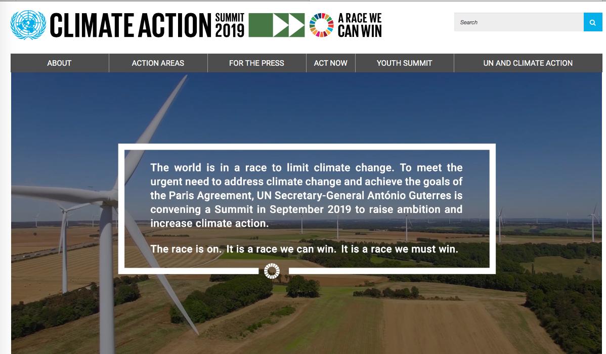 UN Climate Action Summit Sept. 2019