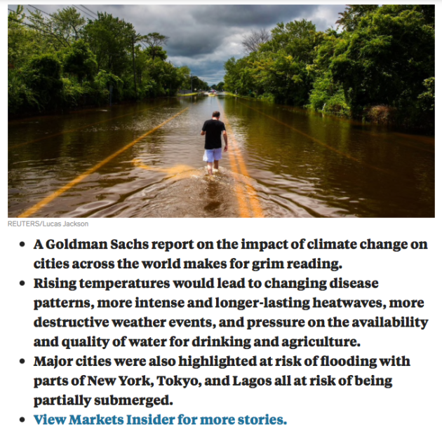 Goldman Sachs report impact of climate change,