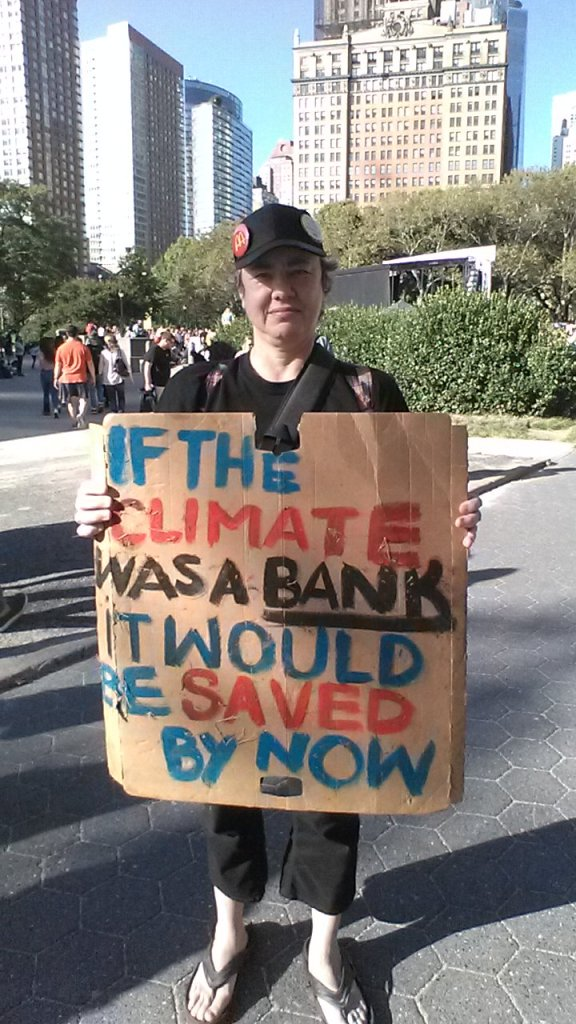 if climate was a bank, it would have been saved.