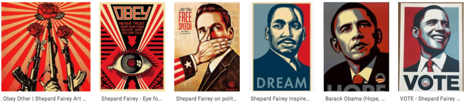 shepard fairey art strips