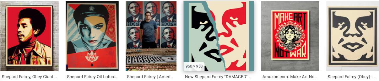 shepard fairey art strips_