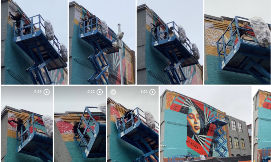 shepard fairey creating 100th mural pvd