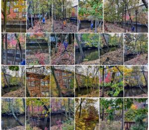 Woonasquatucket River Greenway, Providence, Rhode Island, USA, northeast North America, autumn, seasons